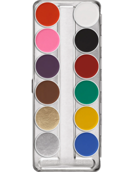 Aquacolor Palette 12 Farben - 40 ml - SN
