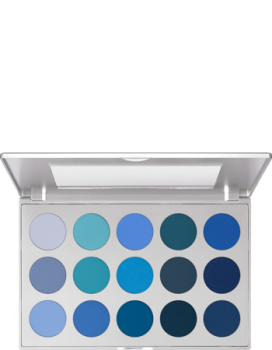 Eye Shadow Palette 15 Farben - 37,5 g - Smokey Blue