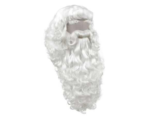 Santa Claus - Set made of synthetic hair, white